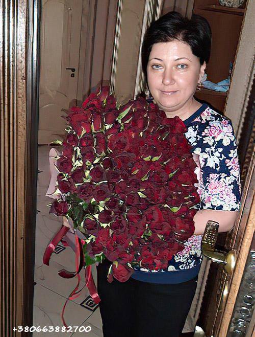 101 красная роза фото доставки в Ирпень